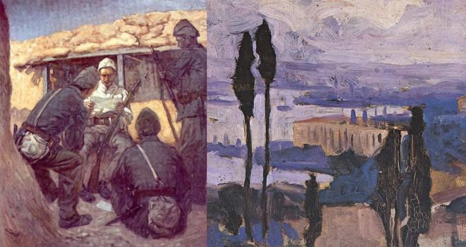 Her güne bir sanat: Kurtuluş Savaşı'na ait kompozisyonları ve İstanbul manzaralarıyla Hikmet Onat