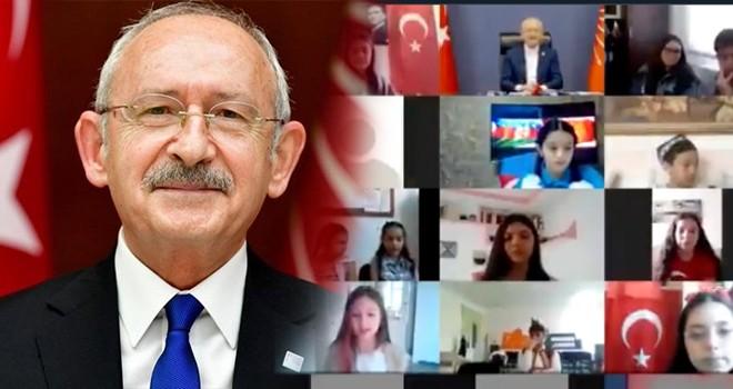 Kılıçdaroğlu, çocukların çevrimiçi bayramını kutladı