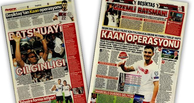 Günün Beşiktaş manşetleri (18 Ağustos)