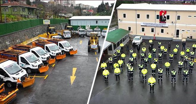 Beşiktaş'ta kar yağışının ve buzlanmanın olası etkilerine karşı önlem alındı