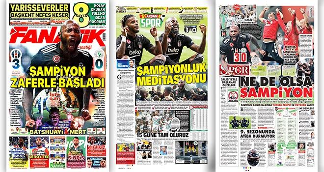 Gazeteler Şampiyon Beşiktaş'ın ligi galibiyetle açışını yazdı!