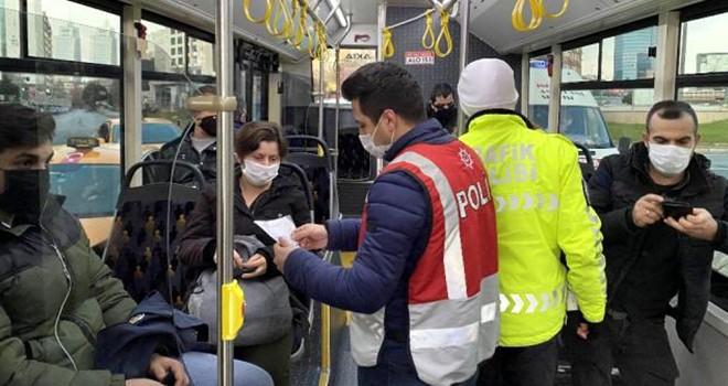 İETT otobüsünde izin belgesi kontrolü