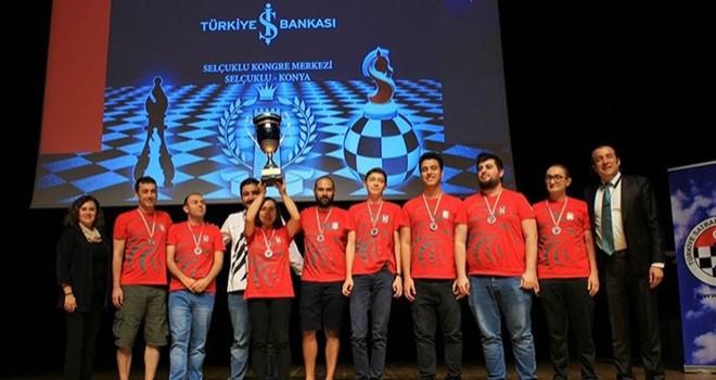 Beşiktaş Satranç Takımı'ndan ikincilik