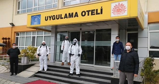 Turizm lisesinden sağlık çalışanlarına destek