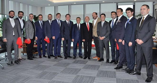 Başkan Çebi'den Türkiye Futbol Federasyonu Başkanı Nihat Özdemir'e ziyaret