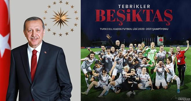 Cumhurbaşkanı Erdoğan'dan Beşiktaş Vodafone Takımı'na tebrik