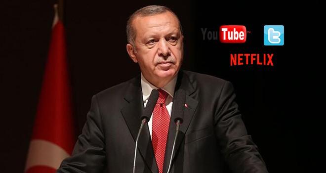Cumhurbaşkanı Erdoğan'dan YouTube, Twitter, Netflix açıklaması! Kapanıyor mu?