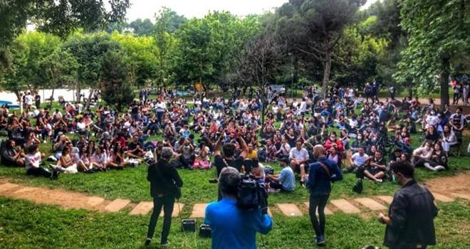 Koronavirüse rağmen Maçka Parkı'nda konser