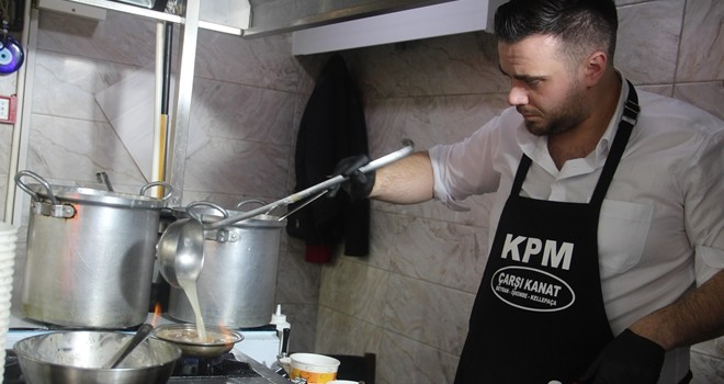 Beşiktaş Çarşı'da drone ile çorba servisi