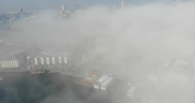 Beşiktaş sis altında