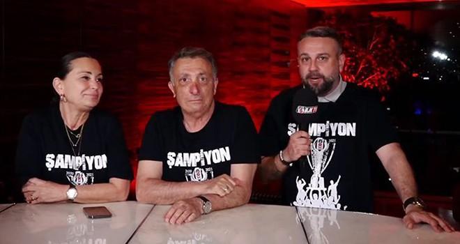 Beşiktaş'ın şampiyonluk özel yayınında coşkulu anlar