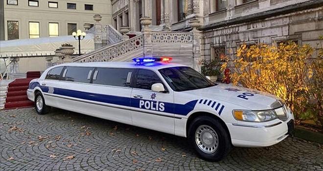 Çırağan'da görülmemiş polis limuzini