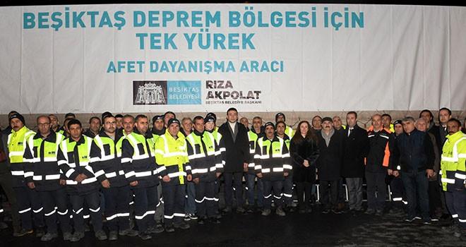 Beşiktaş'tan Elazığ'a yardım tırları yola çıktı