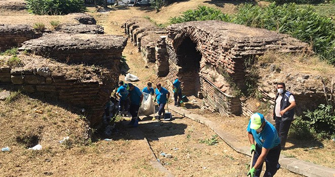 Aziz Polyeuktos Kilisesi'nin kalıntıları İBB tarafından temizlendi