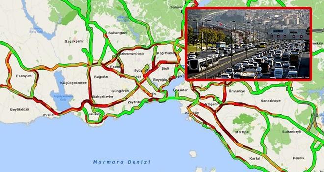 İstanbul'da tam kapanma trafiğe vurdu