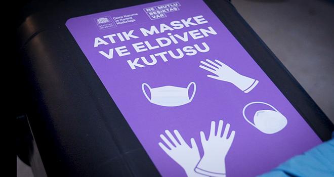 Beşiktaş'ın önemli noktalarına atık maske ve eldiven kutusu yerleştirildi