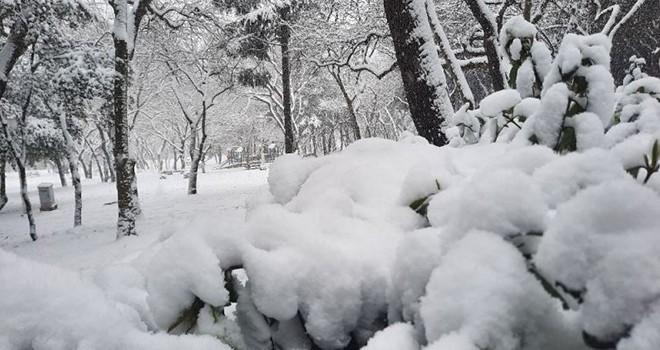 Yıldız Parkı'ndan masal gibi kar manzaraları