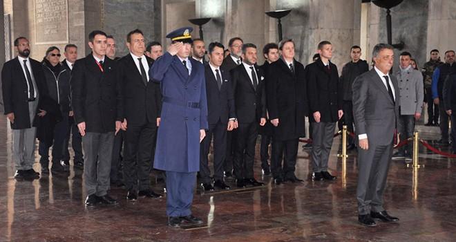 Başkan Çebi ve yönetim kurulundan Anıtkabir ziyaretei