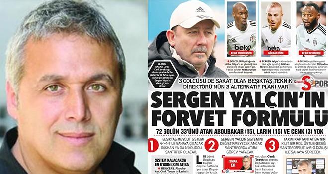 İsmail Er: Beşiktaş 4-1-4-1 ile sahaya çıkacak