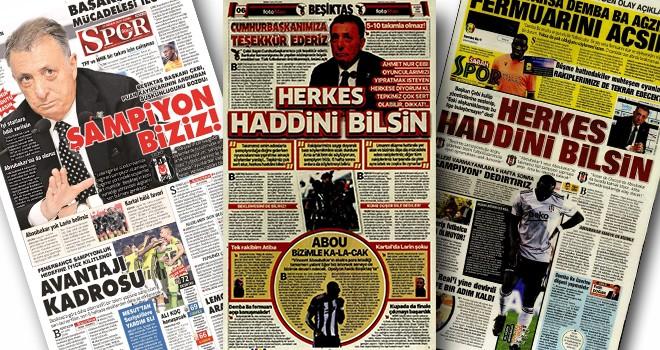 Başkan Çebi'nin açıklamaları gazete manşetlerinde!