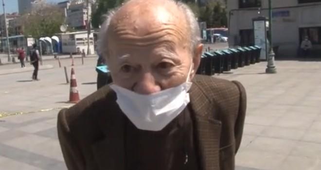 Beşiktaş İskelesi'nden vapura binmek isteyen yaşlı amca gülümsetti