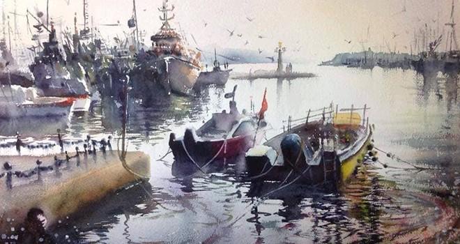 Tülay Sayılgan'ın suluboya resim sergisi açıldı