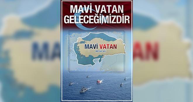 Vatan Partisi'nden Mavi Vatan Geleceğimizdir posterleri