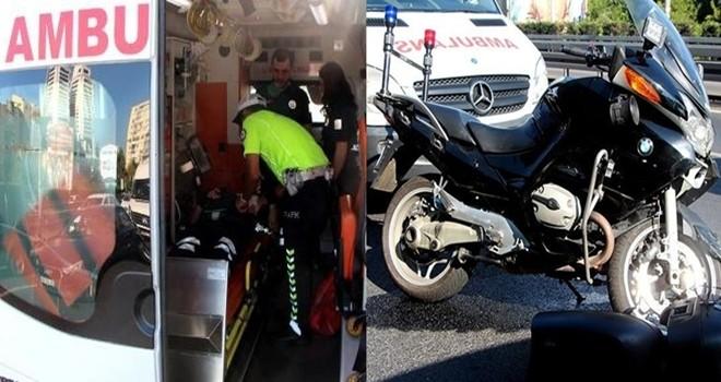 Kaza yapan polis memuru yaralandı