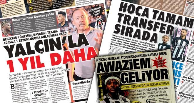 Manşetlerle Beşiktaş gündemi!