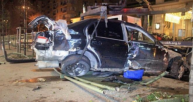 Beşktaş'ta feci kaza bir yaralı