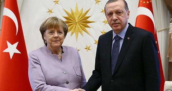 Erdoğan ile Merkel görüşecek