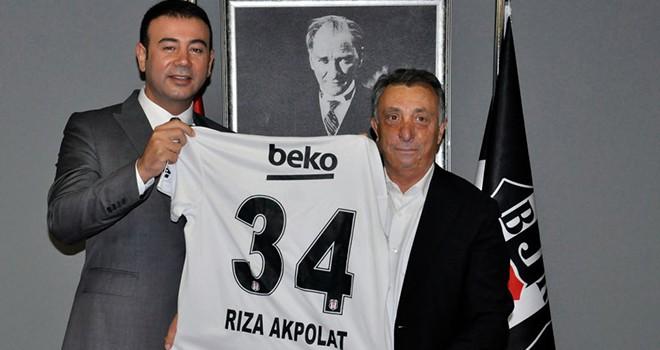 Beşiktaş Belediye Başkanı Rıza Akpolat'tan Beşiktaş Başkanı Ahmet Nur Çebi'ye ziyaret