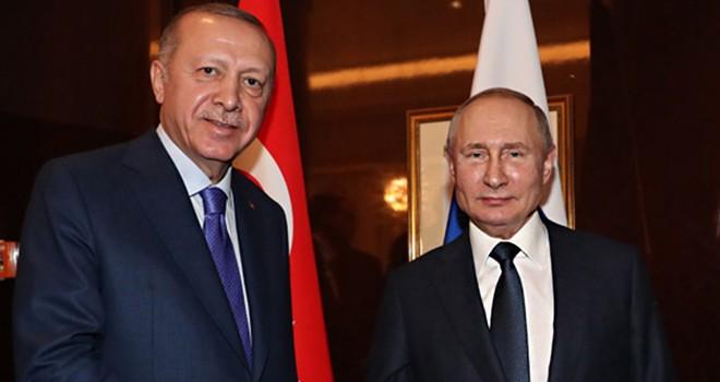 Cumhurbaşkanı Erdoğan ile Rusya Başkanı Putin buluştu