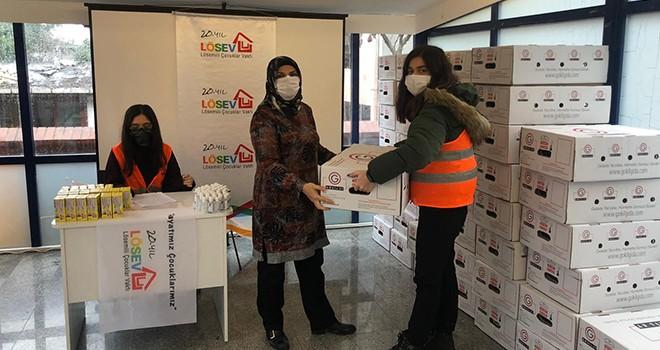LÖSEV'den İstanbul'daki 81 bin haneye et desteği