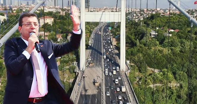 İBB Başkanı İmamoğlu'ndan köprü açıklaması