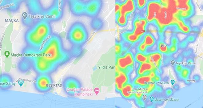 İstanbul'un Koronavirüs haritası güncellendi