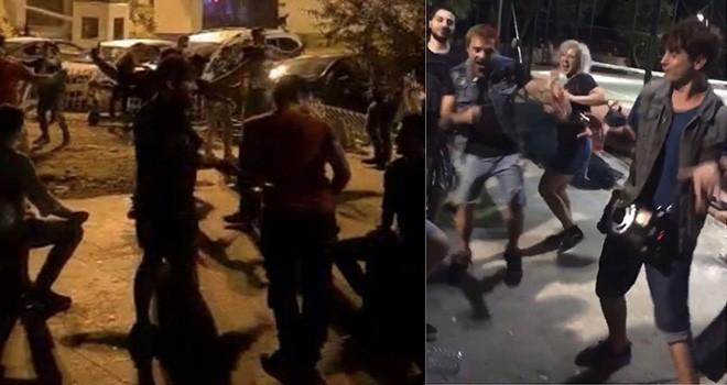Beşiktaş Sahil'de müzik eşliğinde maskesiz halay