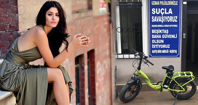 Ünlü oyuncunun evinin önünden bisikleti çalındı
