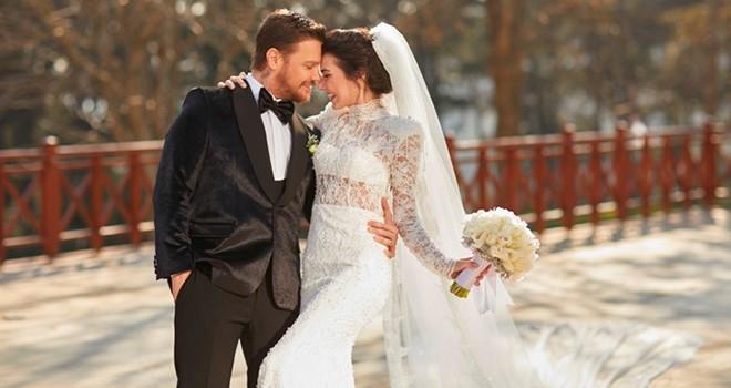 Ünlü çift Beşiktaş'taki lüks bir otelde ikinci kez evlendi