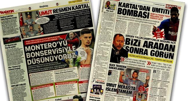 Beşiktaş manşetleri (31 Ağustos)