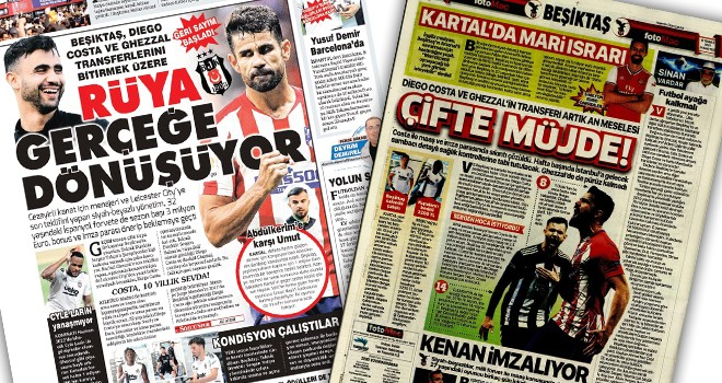 Gazeteler Beşiktaş'ı böyle yazdı! (10 Temmuz)