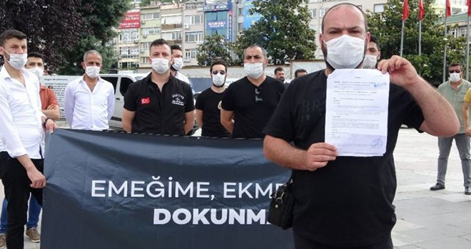 Nargile Kafe işletmecilerinden Beşiktaş'ta basın açıklaması