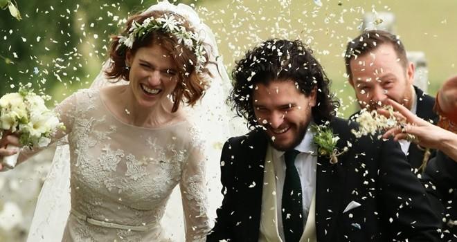 Game of Thrones'un yıldızları İskoçya'da evlendi