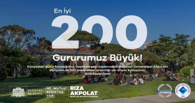 Başkan Akpolat'tan Boğaziçi Üniversitesi'ne kutlama