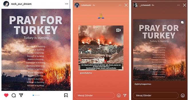 Güney Koreli  ünlüler Türkiye'deki yangın için paylaştılar