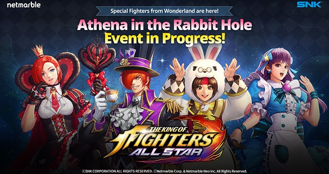 THE KING OF FIGHTERS ALLSTAR'a Alis Harikalar Diyarında teması
