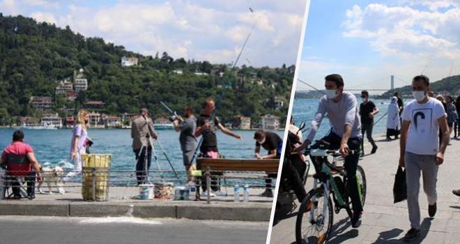Vatandaşlar Beşiktaş Sahilleri'ne akın etti
