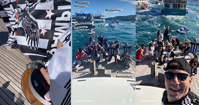 İlhan ve Pınar Sabancı çifti ailece Şampiyon Beşiktaş'a Boğaz'da eşlik etti