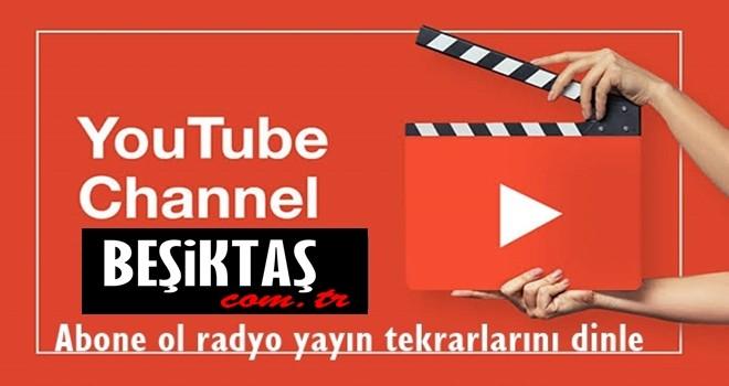 Radyo Beşiktaş canlı yayın tekrarları YouTube kanalımızda!