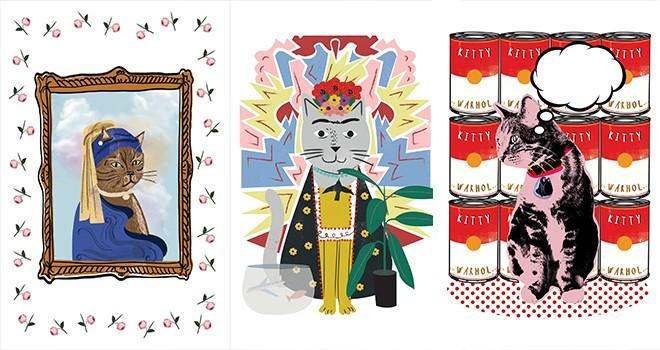 VBKY'nin çok satan kitabı  21 Kedide Sanat Tarihi'nde sanatı kediler anlatıyor